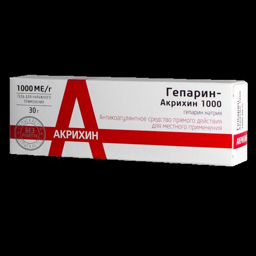 Гепарин гель 1000МЕ 30г