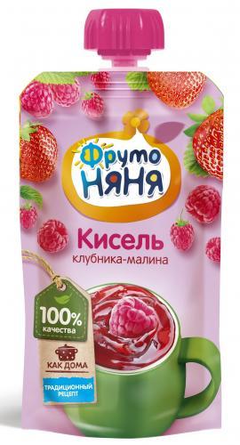 ФрутоНяня Кисель из ягод клубника/малина 130г