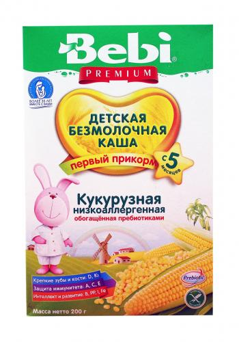 Беби Премиум Каша без молочная Кукуруза низкоаллергенна пребиотик 200г
