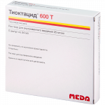 Тиоктацид 600 Т раствор для инфузий 600мг ампулы 24мл №5